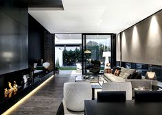 Architecton Designed Residences with Sophisticated Architectural Style in Melbourne - living room, interior design, decor, #livingroom
