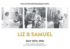 Photocards - Engagement Invitations #paperlust #engagementinvitation #engagementcard #engagementinspiration #design #paper #raisedfoil