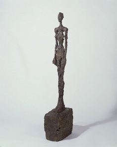 Giacometti with sculpture Standing woman #exhibition #foster #curator #norman