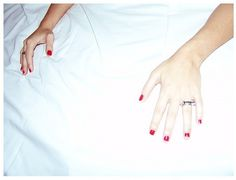 Lips. | Flickr: Intercambio de fotos #red #girl #bed #hands #menthol
