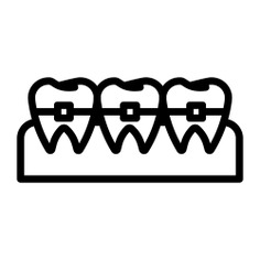 See more icon inspiration related to teeth, orthodontic, healthcare and medical and brackets on Flaticon.