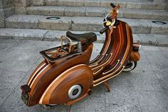 CJWHO ™ (Wooden Vespa Scooter by Carlos Alberto | via ...) #crafts #design #scooter #wood #vespa