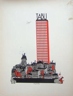 12 klinger plakate tabu skyscraper #klinger #julius #illustration #poster