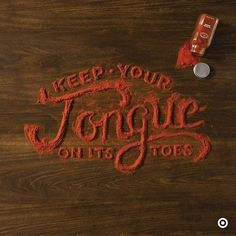 Food Typography by Danielle Evans. #tipografia #pepper #food #typography