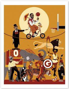 freedarkostore — Gilbert Arenas Print #illustration #freedarko #basketball