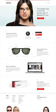 ditto #glasses #white #red #commerce #camera #website #on #ditto #try