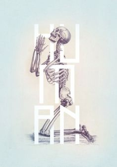 Typeverything.com Illustration from 'Bone –... - Typeverything #type #skeleton