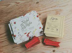 Rachel and Nick's Wedding Invitations #invitation #postcard #wedding