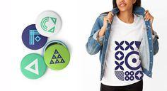 CFA_Buttons #dynamic #pattern #branding #farms #geometric #cfa #shirt #identity #logo #buttons