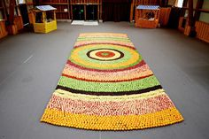 CJWHO ™ (Decorative Carpet Design Made Completely With...) #kenzo #design #fruits #colors #carpet #art #fashion
