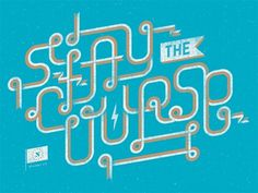 Stay the Course | Neuarmy™ #retro #neuarmy #typography