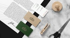 Malik Bros - Tailor Goods branding corporate design by Sebastian Bednarek new minimal beautiful green mindsparkle mag business card cardboar