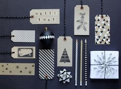 charlotte4 #design #christmas #black and white #pencil #hangtag