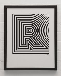 R.jpg (453×567) #typography #type #poster #black and white #pattern #font #lines #stripes