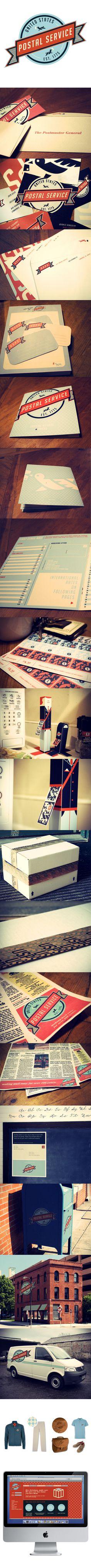 United States Postal Service Re-Branding #creative #usps #design #rebranding #brand