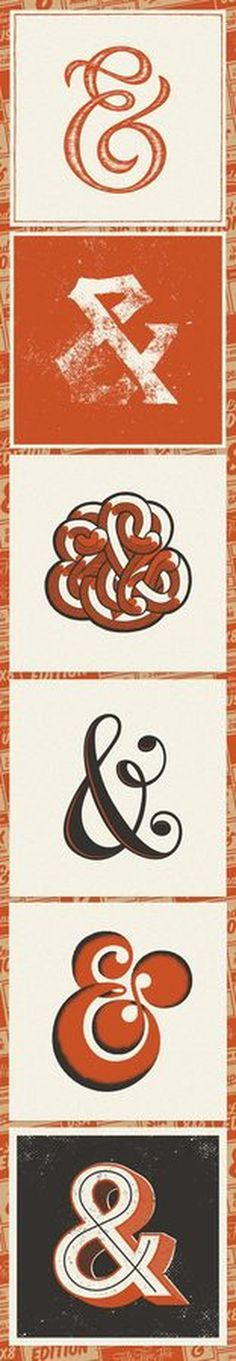 Ampersand Collection 2 |Â Fifty Five Hi's #collection #retro #ampersand #type #typography