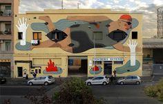Fish'n'kids   Agostino Iacurci #rome #mural #art #street