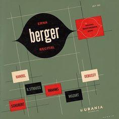 Symphonie Fantastique: Erna Berger Recital (Urania) #album #1950s #design #graphic #cover