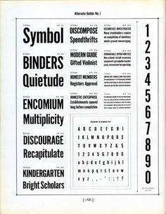 Alternate Gothic № 1 type specimen #type #specimen #benton