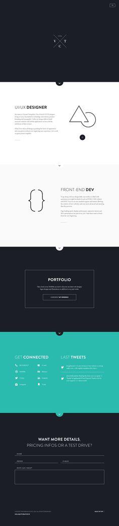 Home_fullview #flat #portfolio #design #minimal #bio #web