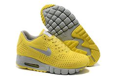 Mens Air Max 90 Current Moire Yellow Silver Shoes #shoes
