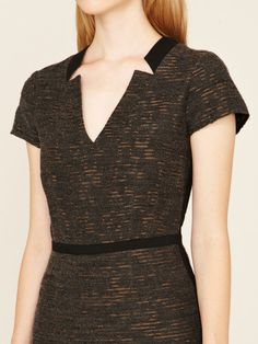 Mackage Trimmed Textured Wool Dress #wool #fall #dress