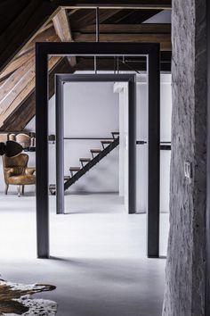 Adaptation of an attic space for summer #interiordesign