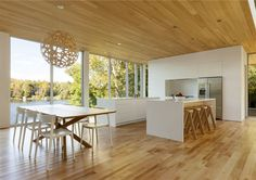 Atelier Pierre Thibault Constructed Wooden Property for Family Vacation - InteriorZine
