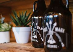 postmark, beer, culture, reflective, bottle, growler