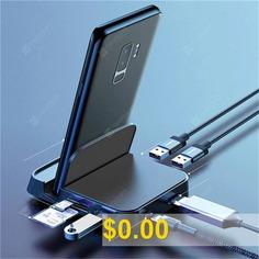 7 #in #1 #Type-C #USB-C #Hub #Docking #Station #Adapter #- #BLACK