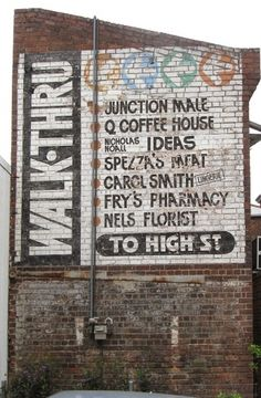 All sizes | [SIGN] walk-thru to high st | Flickr - Photo Sharing! #old #sign #painted #type #hand