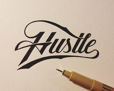 Hustle #nate #yoder #lettering