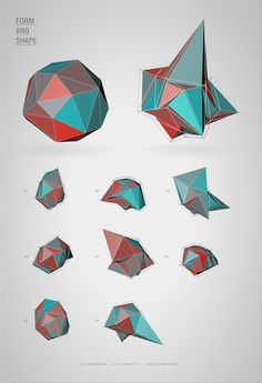 Form and Shape by Angelo Wellens #illustration #color