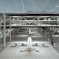 Dezeen architecture and design magazine #airplane #through #future #concept #drive #airport