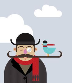 london man.jpg #bird #scarf #mustache #dandy #hat #coat #man
