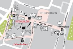 Lageplan Brienner Quartier #map #illustration #munich