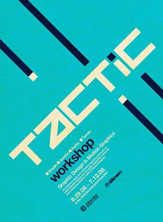 Poster for Altamira's Tactic Event. Motion graphics panel and discussion workshop #poster