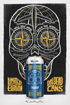Corona Day of the dead packaging design