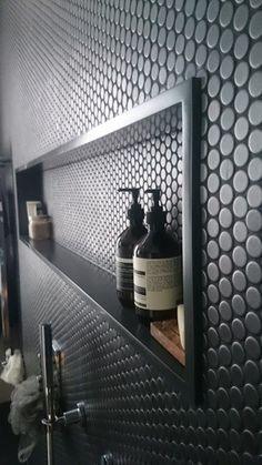 Decor Noir: Corian bathroom shelves, custom made Corian basins & Corian bathroom…