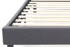 nectar grey bed frame with wooden slats