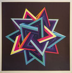 Tetrahedron Screenprint on Behance #triangle #star