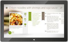 Cookbook by Slow Sense Windows 8 Application on Behance #windows8