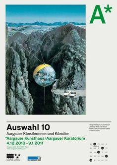 «Identity/Poster for Aargauer Kunsthaus» (ca. 2011) by Elektrosmog (Valentin Hindermann & Marco Walser) #zrich #from #designers #print #design #walser #switzerland #valentin #poster #elektrosmog #marco #hindermann #typography