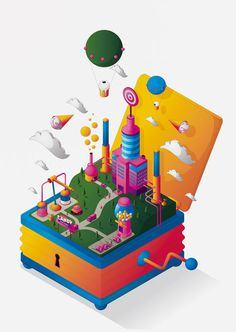 Blind Salida » Changethethought™ #illustration #isometric