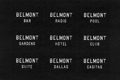 Belmont Hotel on Behance