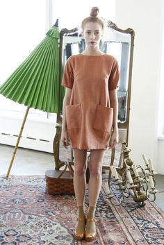 the tawny pipit #dress #umber