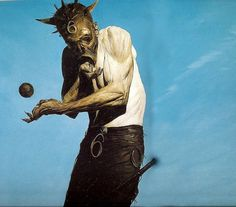 hale_mask.jpg (700×615) #fantasy #phil #hale #illustration #apocalypse #painting #dark