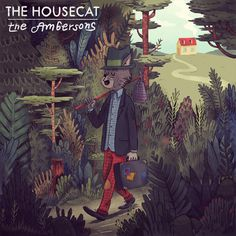"""The Housecat"" - Andrés Lozano Illustration #cat #illustration #andres #lozano"
