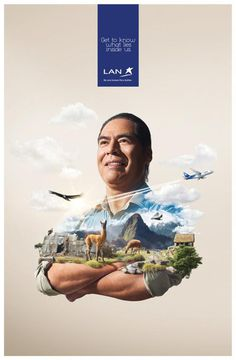 LAN Get to know what lies inside Peru #tourism #airlines #design #advertising #peru