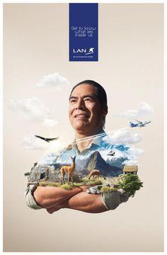 LAN Get to know what lies inside Peru #tourism #airlines #design #advertising #peru